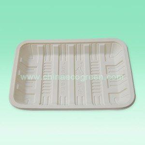 Bioafbreekbaar besteebare reghoek skinkbord